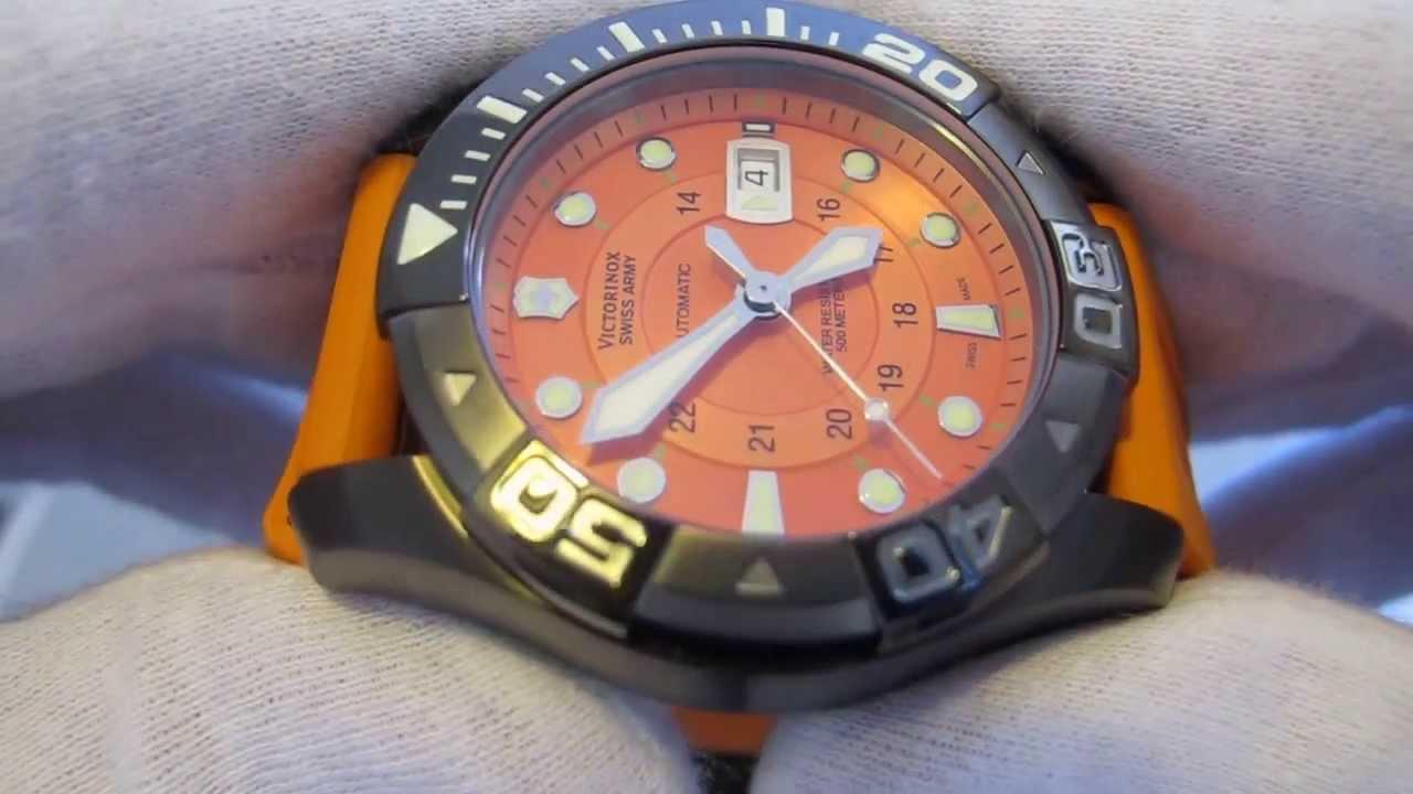 Swiss Army Watch >> Обзор мужских наручных часов Victorinox Swiss Army Professional Dive Master 241354 - YouTube