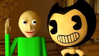 SFM If BALDI was in BENDY AND THE INK MACHINE Baldi s Basics animation.
