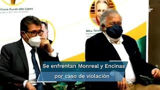 """""""No, no le acepto su reclamo, licenciado Alejandro Encinas. Son tiempos del Congreso; le pediría simplemente su respeto"""", expresó el senador Ricardo Monreal"""