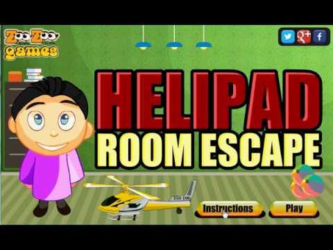 Helipad room escape walkthrough youtube for Small room escape 6 walkthrough