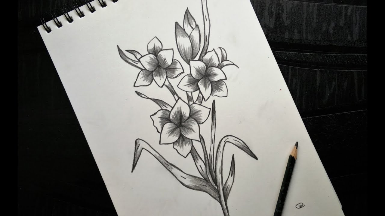 How To Draw Flower Bunch Easily Step By Step Video Youtube