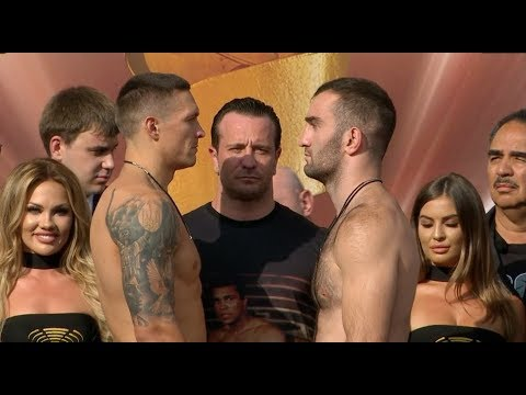 ITS ON! - OLEKSANDR USYK v MURAT GASSIEV (FULL & COMPLETE) WEIGH IN VIDEO (FROM MOSCOW) / WBSS