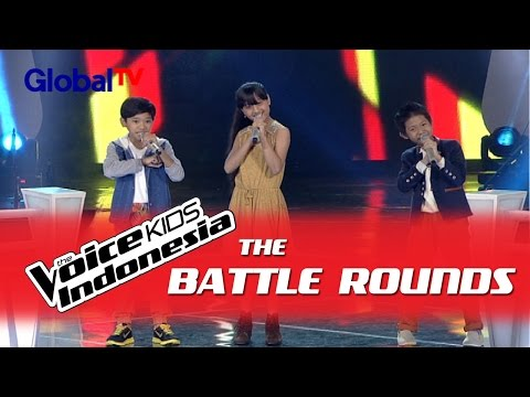 "Darren vs Kayla vs William ""Bahagia"" I The Battle Rounds I The Voice Kids Indonesia 2016"