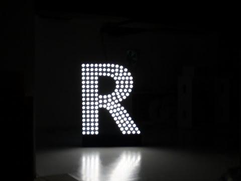 Sky Sign / Building Sign Installation - ArtLED R24 LED LAMP