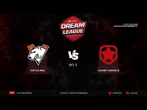 Virtus.pro vs Gambit   Bo3   DreamLeague Season 11 Close QL @Tekcac [RU] thumbnail