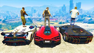 GTA 5 Stealing Super Cars with Michael (GTA 5 Expensive Cars)