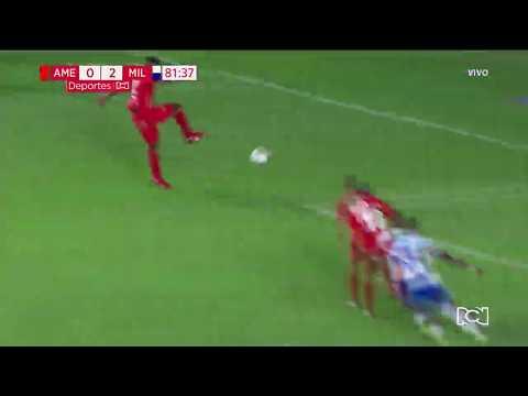 América 0-2 Millonarios: gol Fabián González Lasso I Deportes RCN