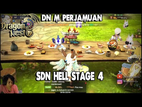 SDN HELL Stage 4 & PERJAMUAN !!! Dragon Nest M - Lv 46 Shooting Star Gameplay