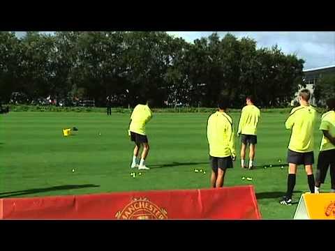 Man United Golf  O'Shea, Fletcher & Wes Brown vs Rafael   Fabio Da Silva & Anderson