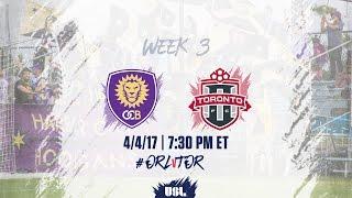 Orlando City II vs Toronto FC USL full match