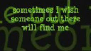 Green Day-Boulevard of Broken Dreams with lyrics