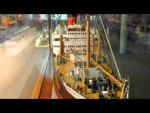 RMS Media Cunard Line Ship Model at Merseyside Maritime Musuem Liverpool