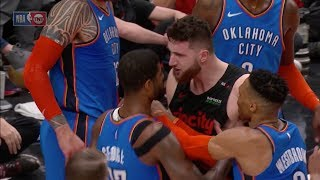 Jusuf Nurkic Headbutts Paul George, Gets Ejected At Moda Center