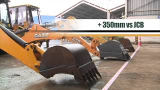 Comparative test : CASE EX vs JCB vs CAT (S-Boom)