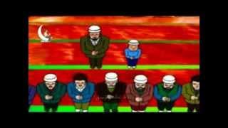 Namaz Oginigh Qollanmisi 2-ناماز ئۆگىنىش قوللانمىسى-uyghur Cartoon-namaz-2
