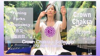 Crown Chakra Tuning Forks Frequency - 172.06Hz クラウンチャクラ 音叉周波数