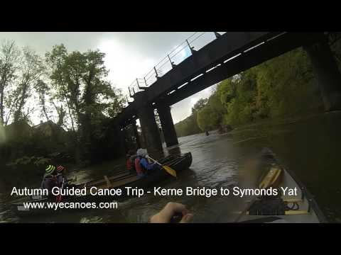Autumn Guided Canoe Trip on the River Wye
