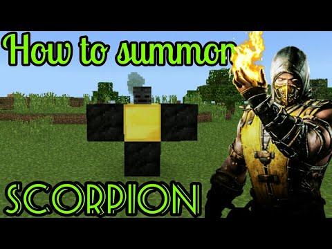 How To Summon SCORPION In Minecraft Pe
