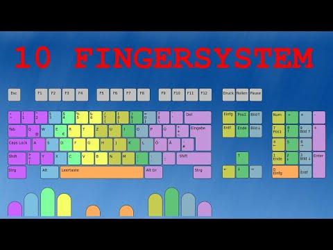 10 Finger System - Schnell schreiben - 578 Zeichen pro Minute from YouTube · Duration:  1 minutes 27 seconds