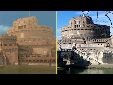 Assassin's Creed Brotherhood Game vs Real Life - Rome Landmarks Comparison