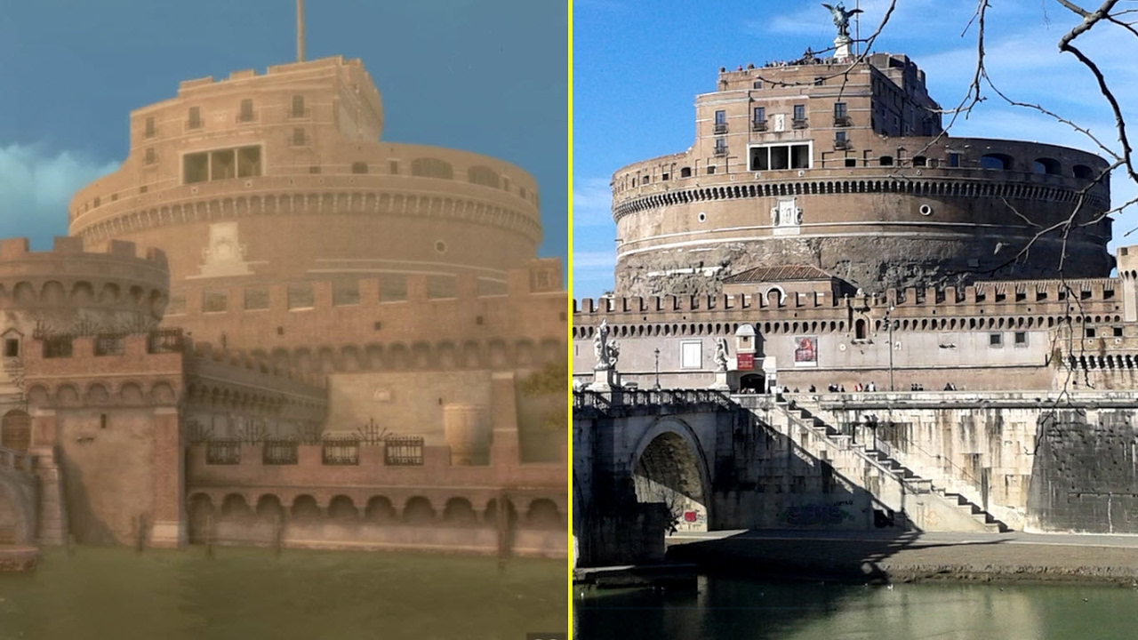 Assassin S Creed Brotherhood Game Vs Real Life Rome Landmarks