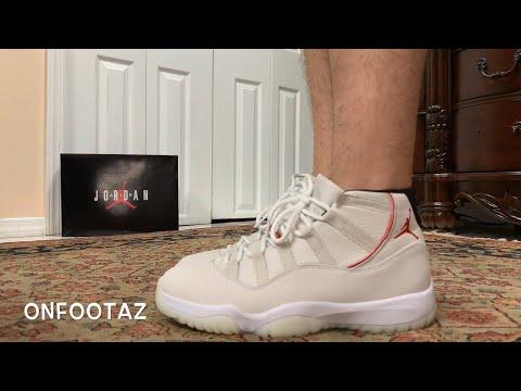 Air Jordan 11 XI Platinum Tint On Foot