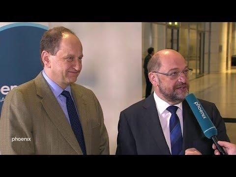 Interview im Bundestag mit Martin Schulz und Alexander Graf Lambsdorff am 13.12.2018