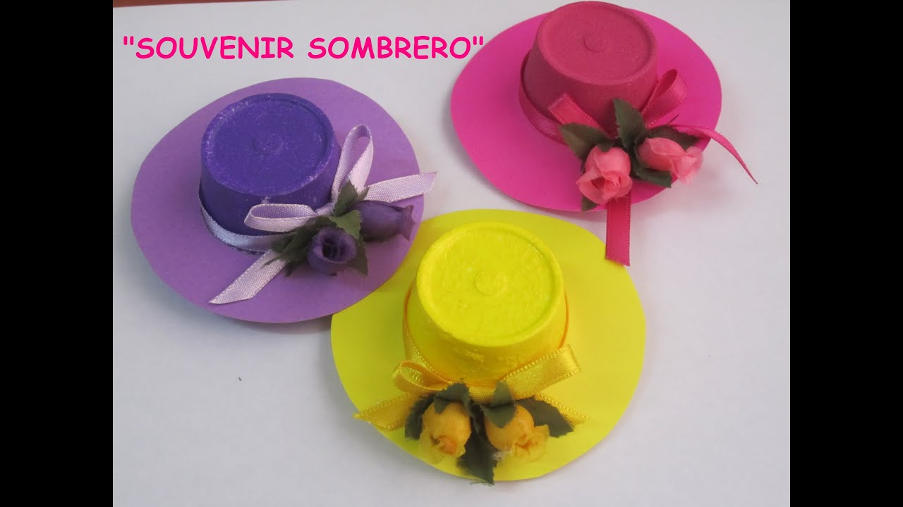 TUTORIAL SOUVENIR SOMBRERO - YouTube faca060c1ca