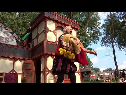 2017 Ohio Renaissance Festival 37 - Kamikaze Fireflies Dinosaur chases hotdog