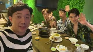 Trấn Thành cùng nghệ sỹ Minh Phượng và nhóm Cờ Cá Ngựa ăn ốc đêm siêu ngon