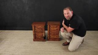 A fantastic pair of Antique Wellington Chests. Dating from the early 19th Century, constructed from solid mahogany with the finest