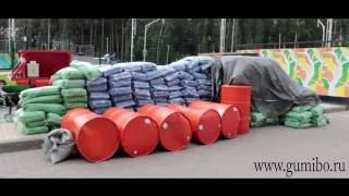 Как производится покрытие Гумибо EPDM спорт. Первый Московский 2016 год.