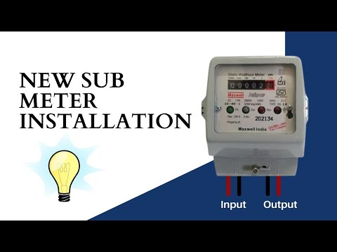 How To Install A Electric Sub Meter Youtube