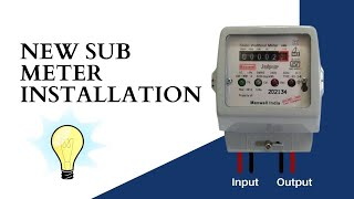 How to Install a electric Sub Meter