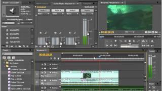 Как работать со звуком в программе Adobe Premiere Pro CS5.5.