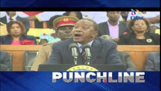 PUNCHLINE: President Uhuru Kenyatta blasts critics