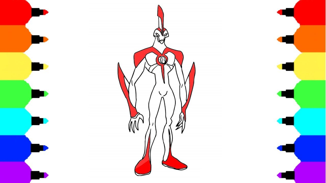 How To Draw Way Big From Ben 10 Paint Alien From Ben 10 Youtube