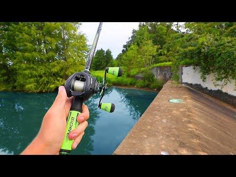 Fishing SKETCHY DAM For BIG FISH (SCARY)