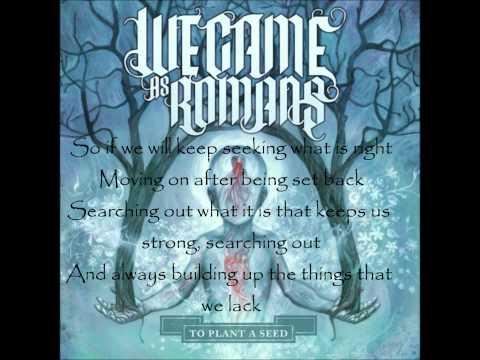 We Came As Romans - Searching, Seeking, Reaching, Always