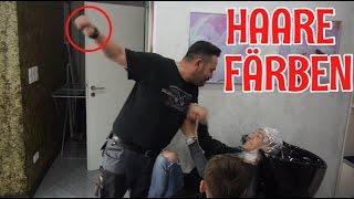 HAARE GRAU FÄRBEN und REAKTION von VATER