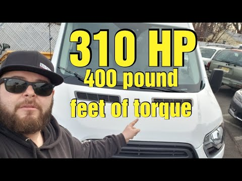 HERE IS WHY I BOUGHT TWIN TURBO WORK VAN...2019 ford transit t250