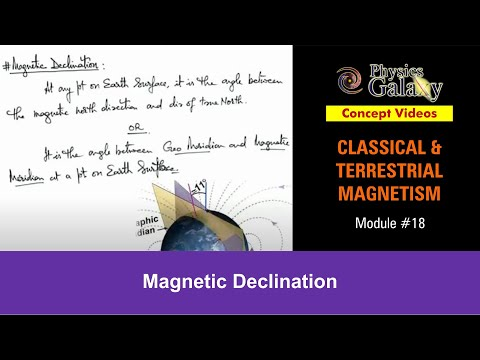 18. Physics | Terrestrial Magnetism | Magnetic Declination | by Ashish Arora