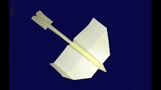 Самолет из бумаги. Действительно Летающий самолет- оригами . Ласточка(Как сделать самолет из бумаги. Траектория полета - большой круг Как сделать далеко летающий самолетик из..., 2015-02-28T23:30:01.000Z)