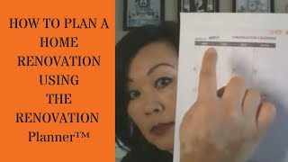 How to Plan a Home Renovation Project with The Renovation Planner™