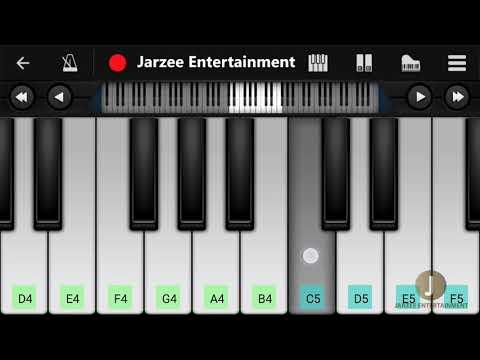 O Saathi Piano (Baaghi 2), Atif Aslam - Mobile Piano Tutorial | Jarzee Entertainment