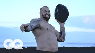 how did the mountain from game of thrones get so damn huge? gq