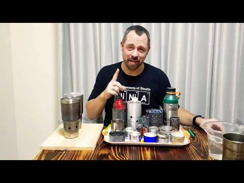 $10 DIY cook kit to rule them all! Alcohol- and wood-burning stainless steel backpacking setup