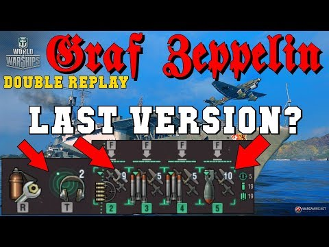 Graf Zeppelin final version !? Double Replay ! World of Warships