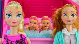 Anna y Elsa Tienen Bebés Gemelas a Quien Cuidar. AventurasJuguetes
