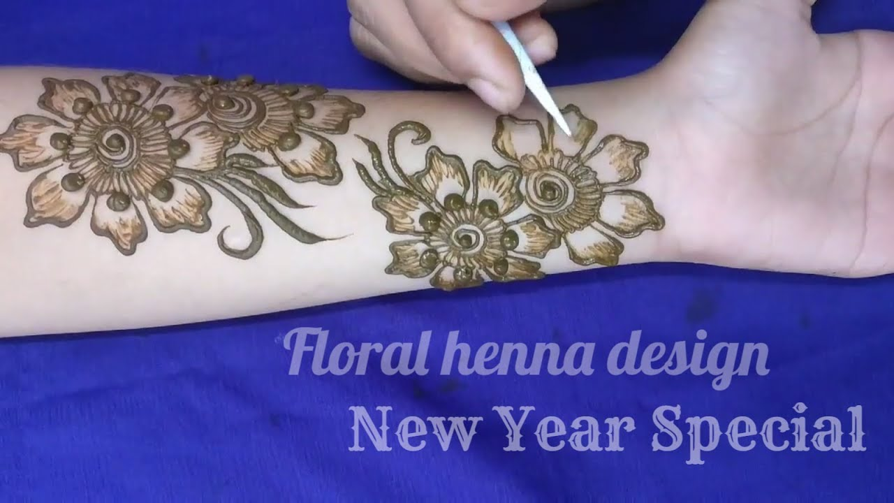 Floral Arabic Henna Design For Hands New Year Special Design 2018